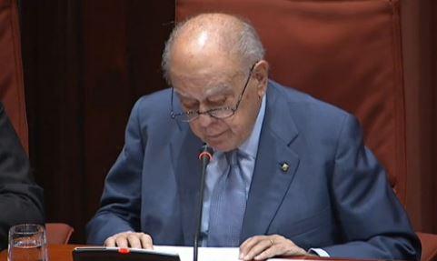 Jordi Pujol interviene ante el Parlament catalán